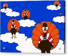 Bluesky Turkeys Acrylic Print