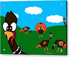 Blueskyfarm Turkeys Acrylic Print