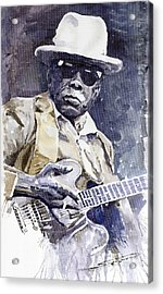 Bluesman John Lee Hooker 3 Acrylic Print by Yuriy  Shevchuk
