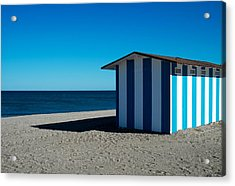 Bluesome Acrylic Print by Piet Scholten