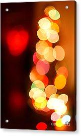 Blurred Christmas Lights Acrylic Print by Gaspar Avila