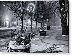 Blustery Winter Night Acrylic Print