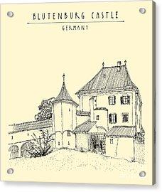 Blutenburg Castle Near Munich, Bavaria Acrylic Print