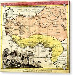 Bm0588 - Map Of Western Africa 1743 Acrylic Print by Homann Erben