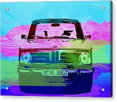 Bmw 2002 Front Watercolor 1 Acrylic Print by Naxart Studio