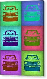 Bmw 2002 Pop Art 2 Acrylic Print by Naxart Studio