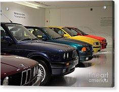 Bmw Cars Through The Years Munich Germany Acrylic Print by Imran Ahmed