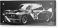 Acrylic Print featuring the painting Bmw 3.0 Csl Alexander Calder Art Car by Richard Le Page