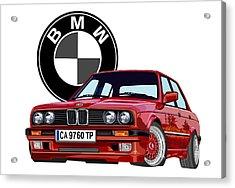 BMW Acrylic Print by DARRYL McPHERSON