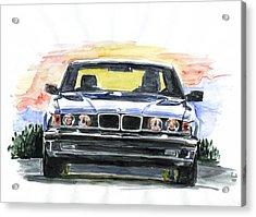 Bmw E32 Acrylic Print by Ildus Galimzyanov