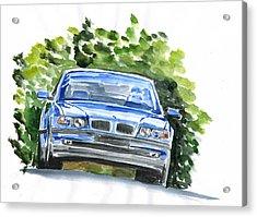 Bmw E38 Acrylic Print by Ildus Galimzyanov
