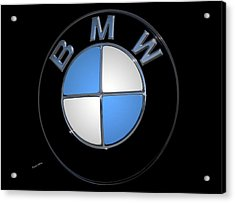 Bmw Emblem Acrylic Print by DigiArt Diaries by Vicky B Fuller