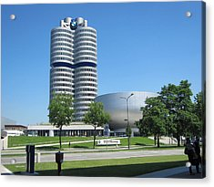 Acrylic Print featuring the photograph Bmw Head Quaters by Pema Hou