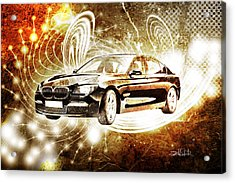 bmw Acrylic Print by Isabel Salvador