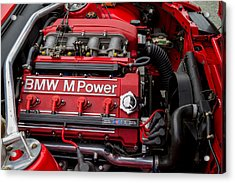 Bmw M Power Engine Acrylic Print by Roger Mullenhour