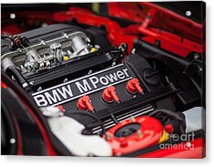 Bmw M Power Acrylic Print by Mike Reid
