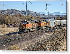 Acrylic Print featuring the photograph Bnsf 7454 by Jim Thompson