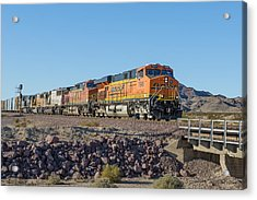 Acrylic Print featuring the photograph Bnsf 7649 by Jim Thompson