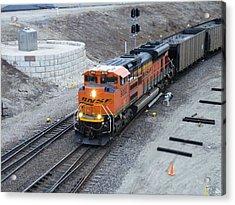 Bnsf Kc Rail Yards Acrylic Print by The GYPSY And DEBBIE