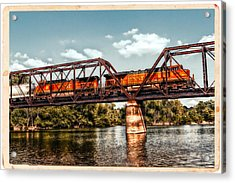 Bnsf Over The Meramec Acrylic Print