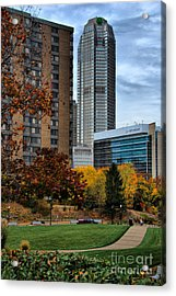 Bny Mellon From Duquesne University Campus Hdr Acrylic Print by Amy Cicconi