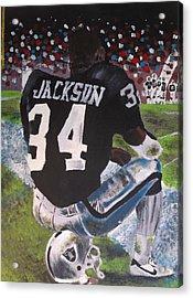 Bo Jackson II Acrylic Print by Jeremy Moore