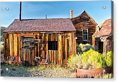 Boarded Up Acrylic Print by Cat Connor