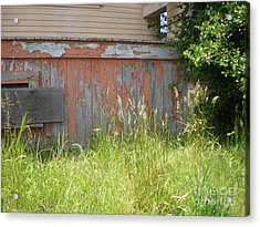 Acrylic Print featuring the photograph Boarded Up by Suzanne McKay