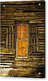 Boarded Window Acrylic Print by Marty Koch