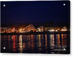 Santa Cruz Boardwalk At Night Acrylic Print