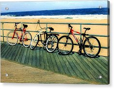 Boardwalk Bikes Acrylic Print