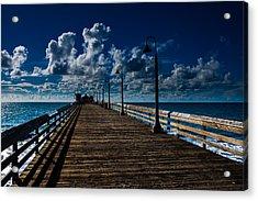 Boardwalk Blues  Acrylic Print by Cecil K Brissette