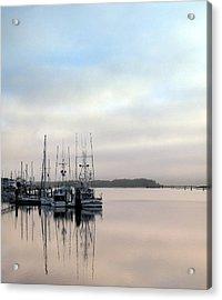 Boardwalk Boats Acrylic Print
