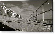 Boardwalk Acrylic Print by David Warrington