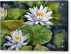 Boardwalk Lilies Acrylic Print by Mary McCullah