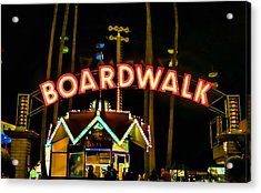 Boardwalk Acrylic Print by Digital Kulprits