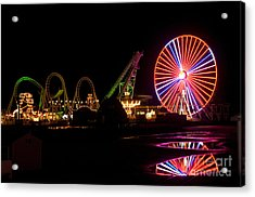 Acrylic Print featuring the photograph Boardwalk Night by Greg Graham