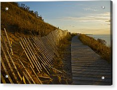 Boardwalk Overlook At Sunset Acrylic Print