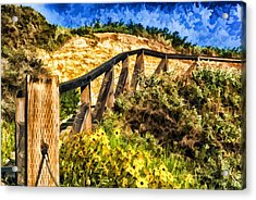 Acrylic Print featuring the painting Boardwalk Steps by Anthony Citro