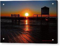 Boardwalk Sunrise Acrylic Print by Geraldine Scull
