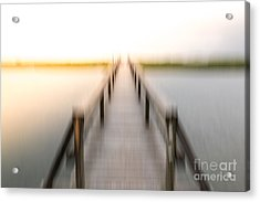 Boardwalk Acrylic Print by Susan Cole Kelly Impressions