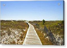 Boardwalk Acrylic Print by Susan Leggett
