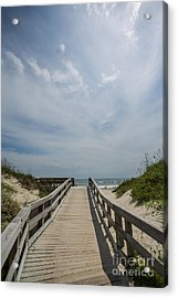 Boardwalk To The Beach Acrylic Print by Kay Pickens