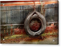 Boat - Abstract - It Was A Good Year Acrylic Print by Mike Savad