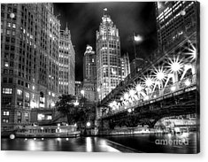 Boat Along The Chicago River Acrylic Print