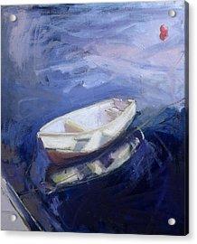 Boat And Buoy Acrylic Print