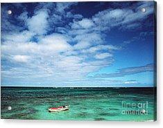 Boat And Sea Acrylic Print by Thomas R Fletcher