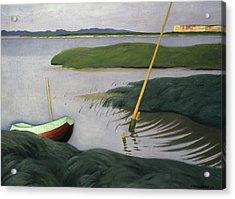 Boat At Berville Acrylic Print