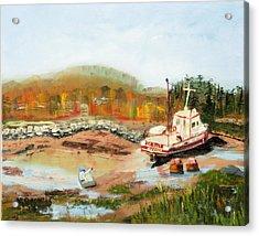 Boat At Bic Quebec Acrylic Print