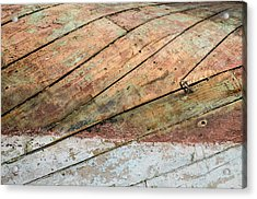 Boat Belly Up Acrylic Print by Piet Scholten